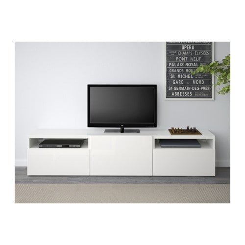 Bestå Tv Bench White/selsviken High Gloss/white 180 X 40 X 38 Cm – Ikea Throughout Most Current Tv Bench White Gloss (View 9 of 25)