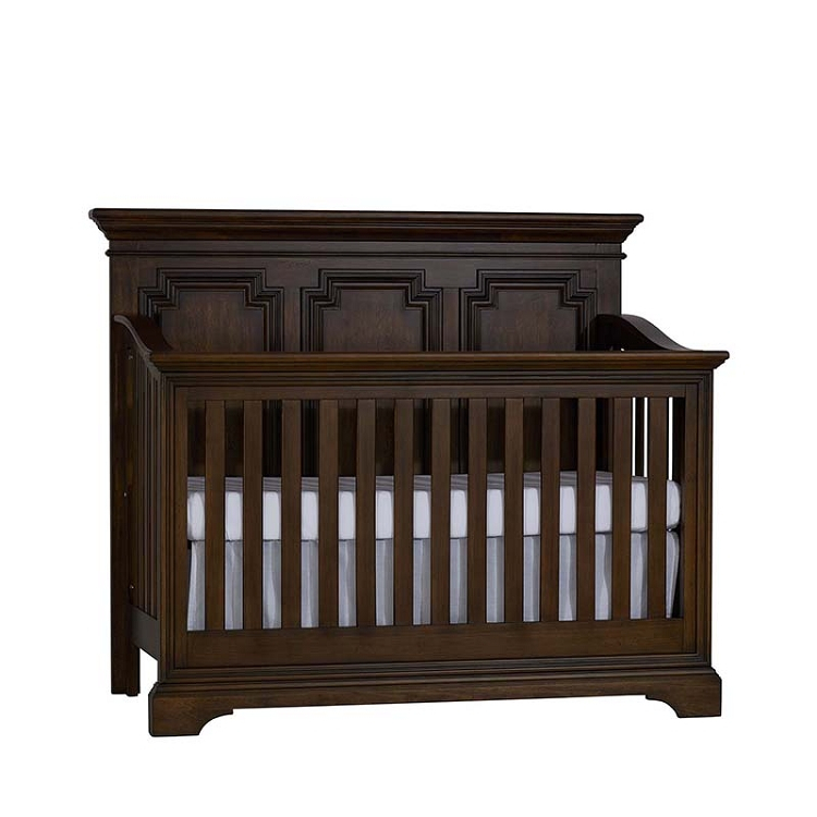 Biltmore Amherst 4 In 1 Lifetime® Convertible Crib Burnt Oak – Ideal With Well Known Burnt Oak Metal Sideboards (Image 1 of 25)