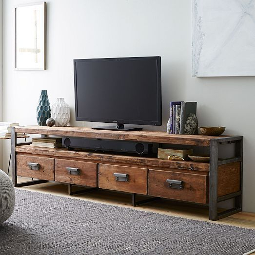 "Bin Pull 4 Drawer Media Console (82"") (Image 9 of 25)"