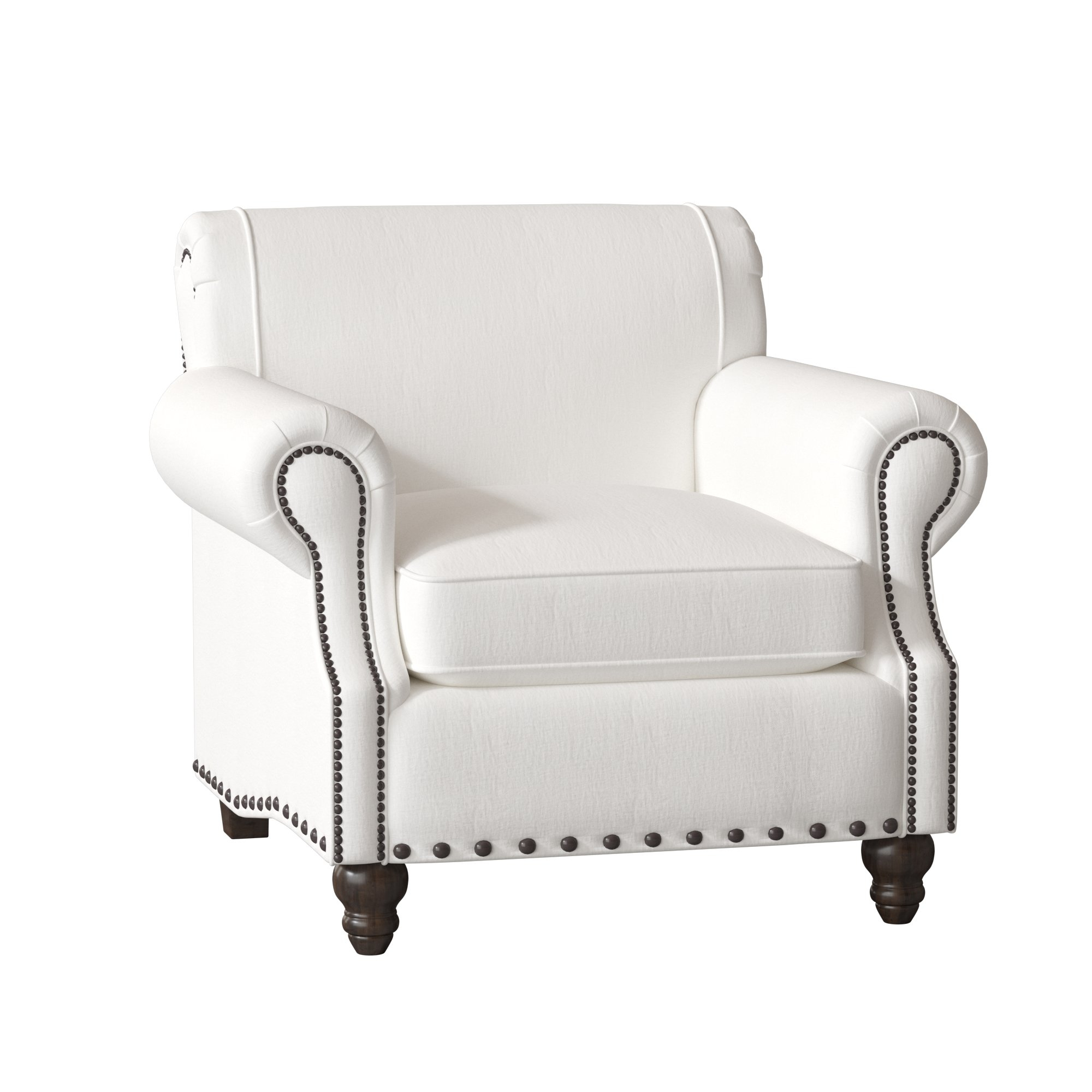 Birch Lane™ Heritage Landry Armchair & Reviews | Birch Lane For Landry Sofa Chairs (Image 7 of 25)