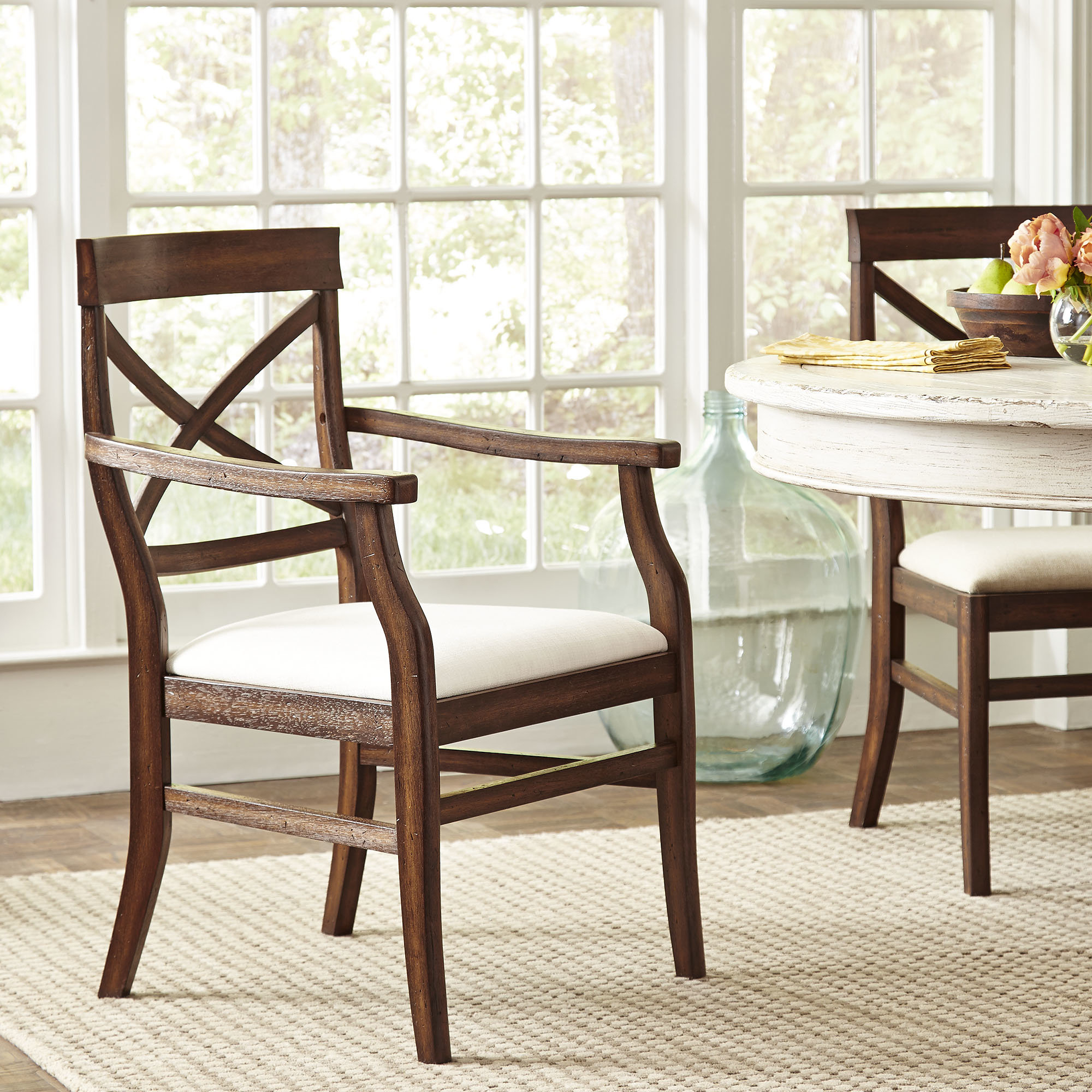 Birch Lane™ Heritage Mansfield Arm Chair & Reviews | Birch Lane Pertaining To Mansfield Beige Linen Sofa Chairs (Image 1 of 25)