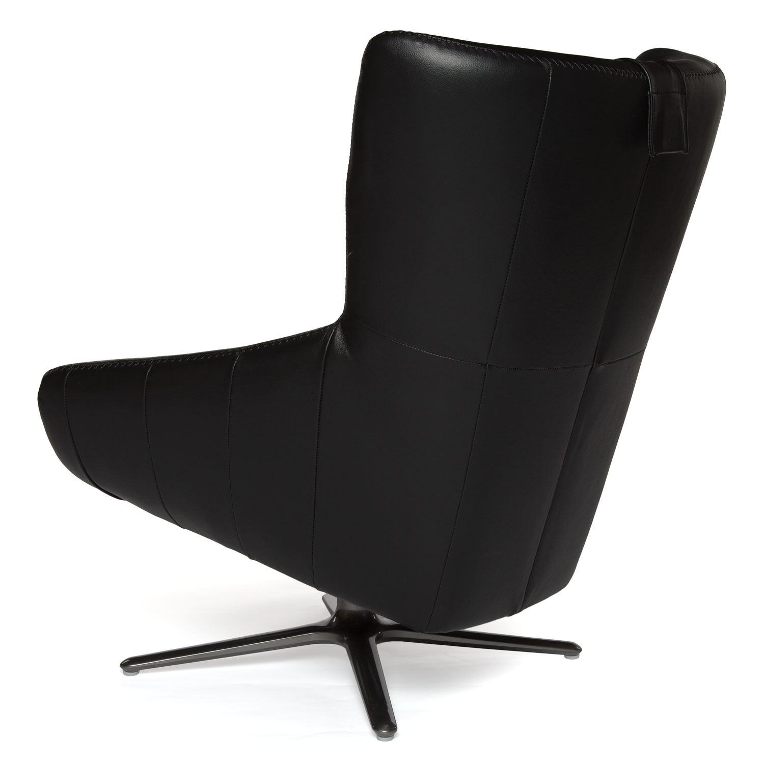 Black Leather Swivel Chair Regarding Leather Black Swivel Chairs (View 1 of 25)