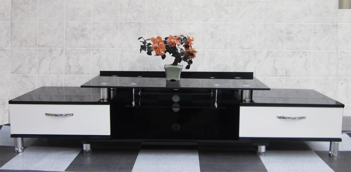 Black Tv Entertainment Unit With White Drawers Sydney Warehouse Within Most Current Very Cheap Tv Units (View 15 of 25)