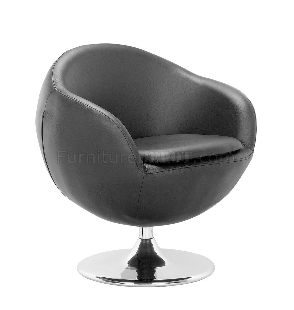Black, White Or Espresso Leatherette Contemporary Swivel Chair Regarding Espresso Leather Swivel Chairs (View 19 of 25)