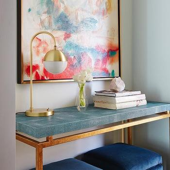Blue Faux Shagreen Console Table Design Ideas Intended For Well Liked Faux Shagreen Console Tables (View 8 of 25)