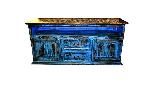 Blue Tv Console Distressed South Creek Ii In – Kosnica For 2017 Annabelle Blue 70 Inch Tv Stands (View 18 of 25)