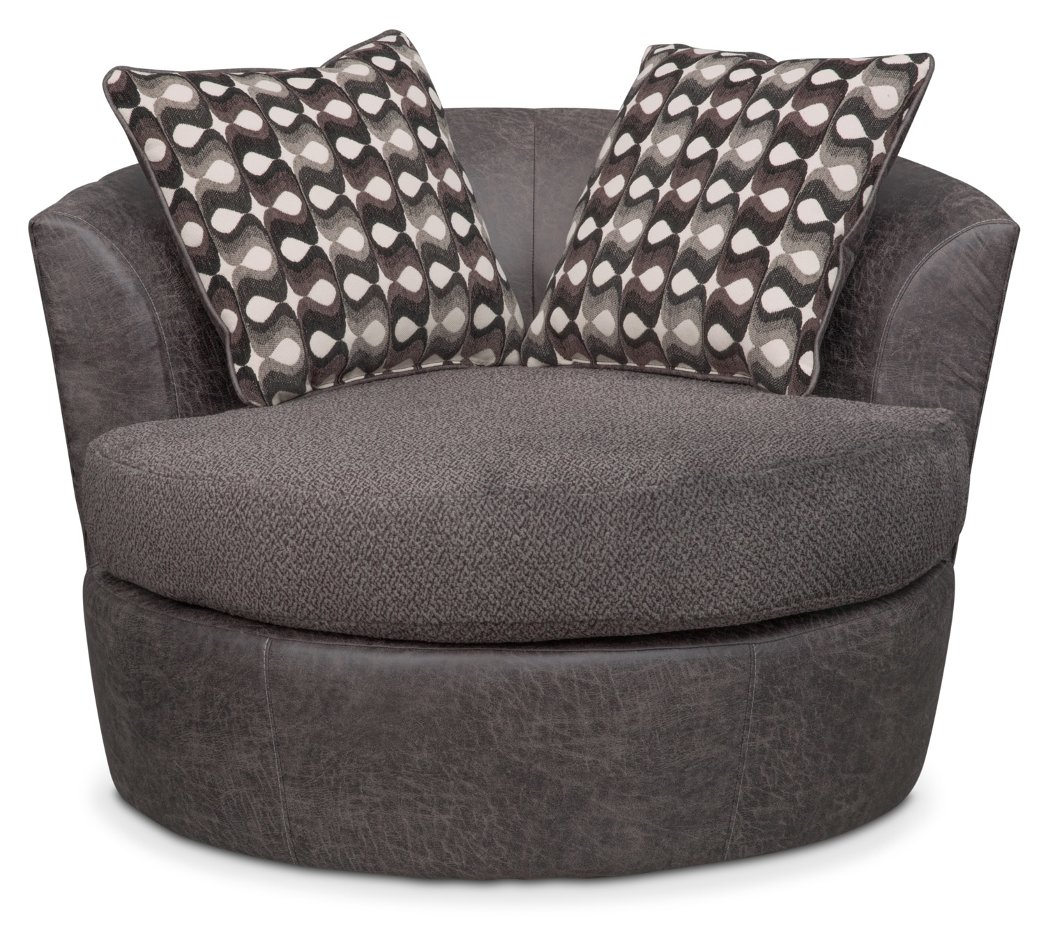 Brando Swivel Swivel Chair | Value City Furniture And Mattresses Intended For Loft Smokey Swivel Accent Chairs (View 3 of 25)