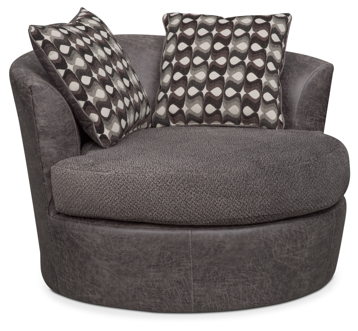 Brando Swivel Swivel Chair | Value City Furniture And Mattresses Regarding Loft Smokey Swivel Accent Chairs (View 4 of 25)