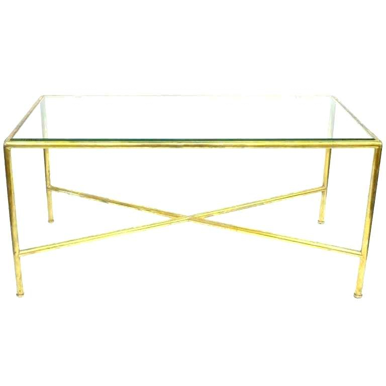 Brass Coffee Table Base Brass Coffee Table Base Brass Coffee Table Throughout Favorite Elke Glass Console Tables With Polished Aluminum Base (Image 1 of 25)