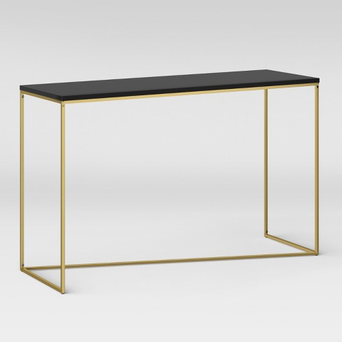 Brass Console Table Cool Phillip Reviews Crate And Barrel Decorating Throughout Widely Used Phillip Brass Console Tables (Image 4 of 25)