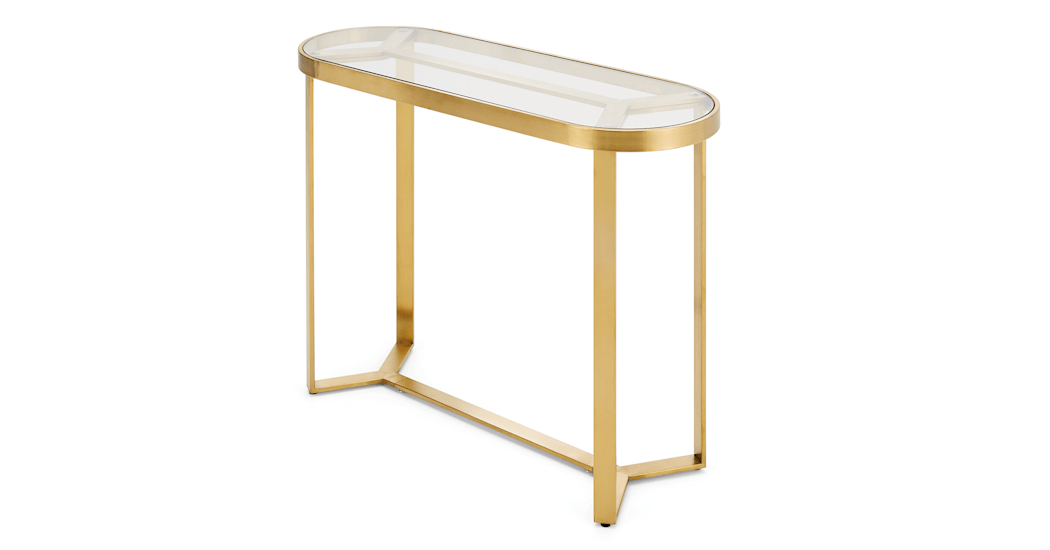 Brass Console Table Impressive Elke Marble With Base Reviews Crate Throughout 2017 Elke Marble Console Tables With Brass Base (Image 9 of 25)