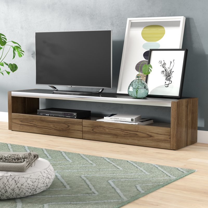 "Brayden Studio Ahl Tv Stand For Tvs Up To 78"" & Reviews (View 3 of 20)"