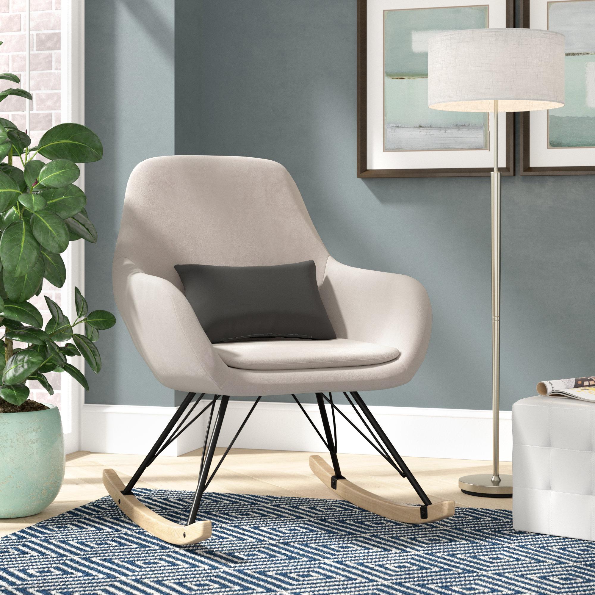 Brayden Studio Decker Rocking Chair & Reviews | Wayfair Within Decker Ii Fabric Swivel Glider Recliners (View 17 of 25)