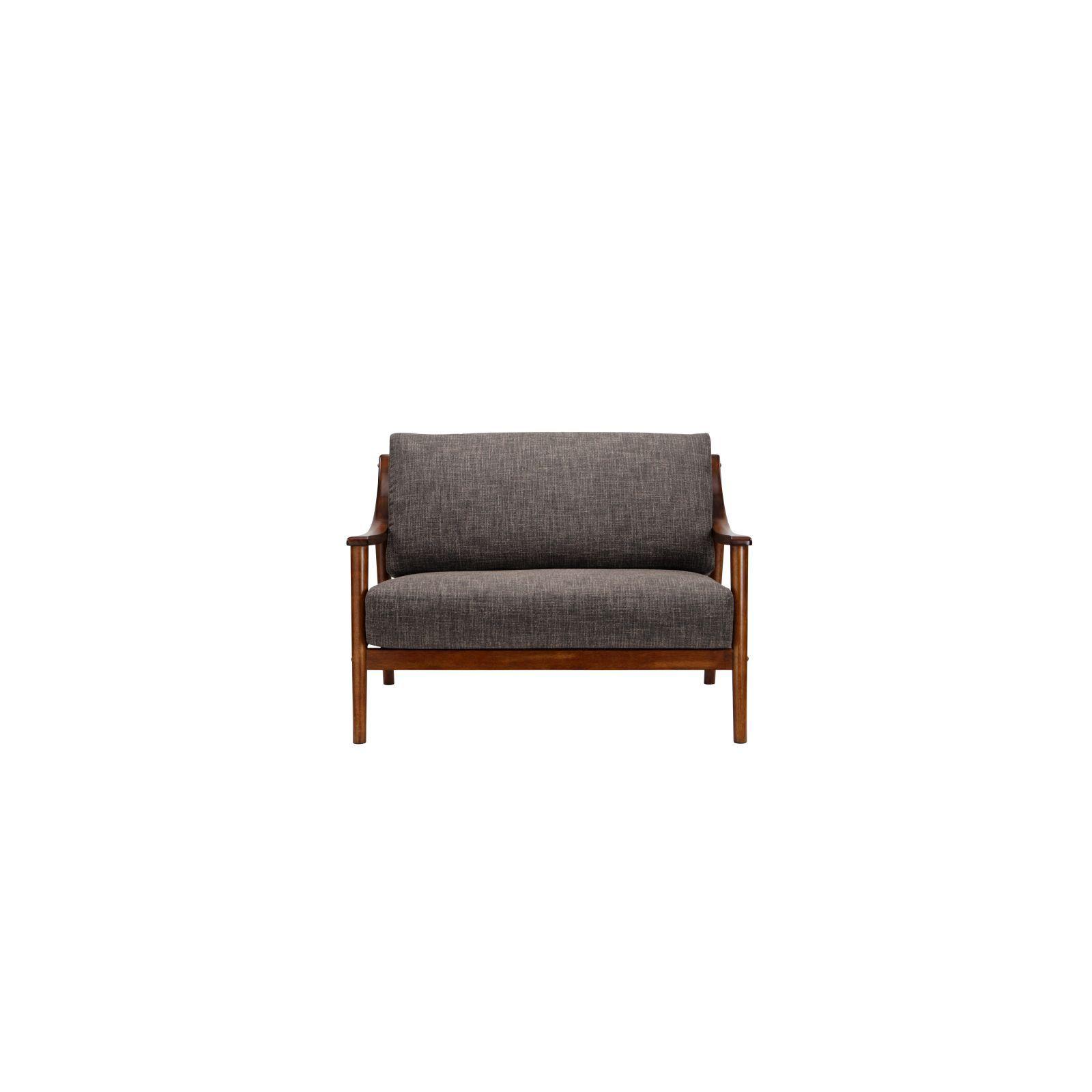 Brennan 2 Seater (Fab) Lava Fabric Sofa – Sofa & Armchairs For Brennan Sofa Chairs (Image 2 of 25)
