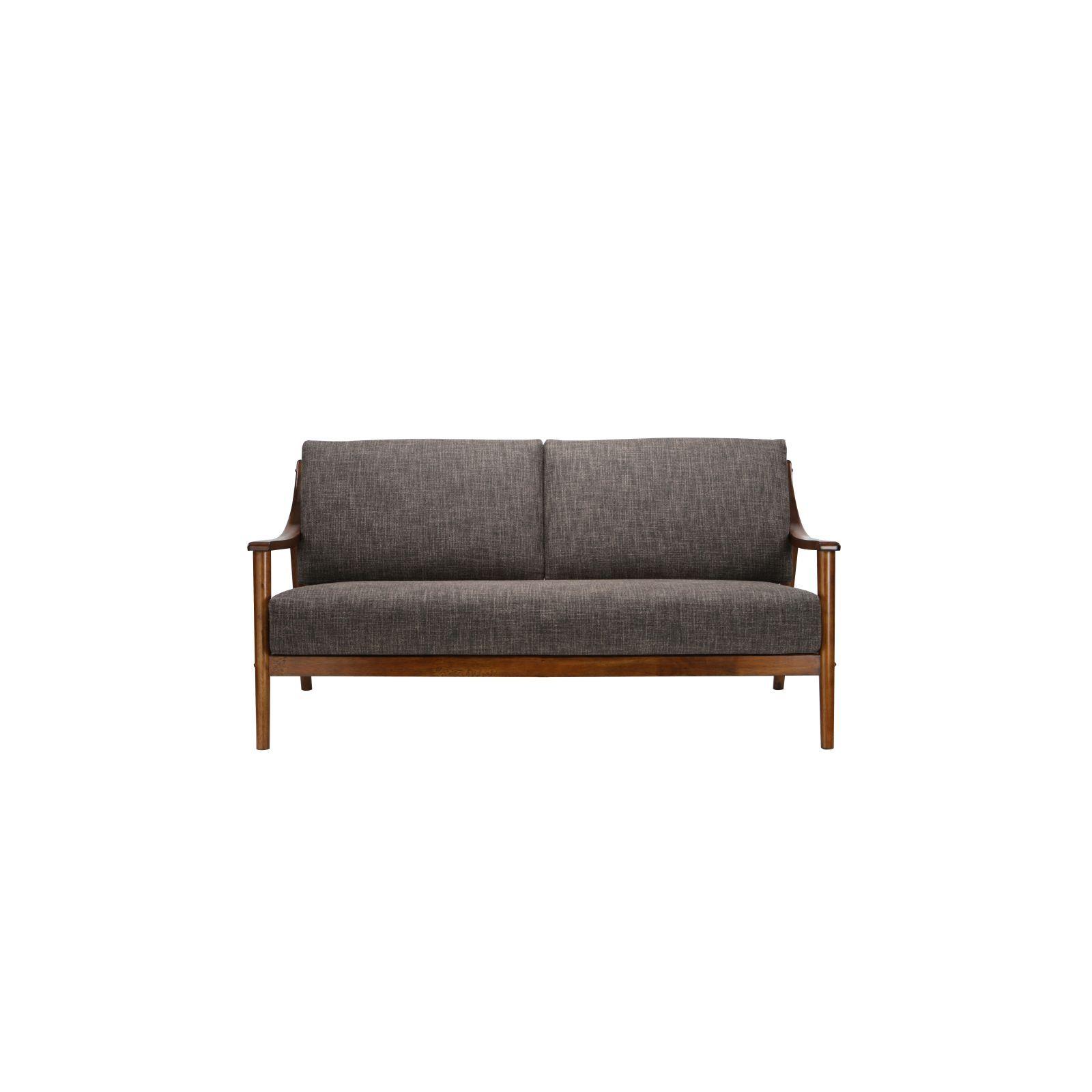 Brennan 3 Seater (Fab) Lava Fabric Sofa – Sofa & Armchairs Regarding Brennan Sofa Chairs (Image 3 of 25)