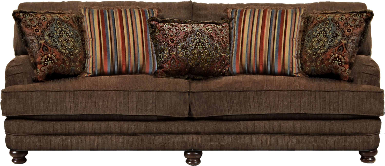 Brennan Auburn Sofa | Jackson Furniture | Traditional Sofa Sets Intended For Brennan Sofa Chairs (Image 4 of 25)