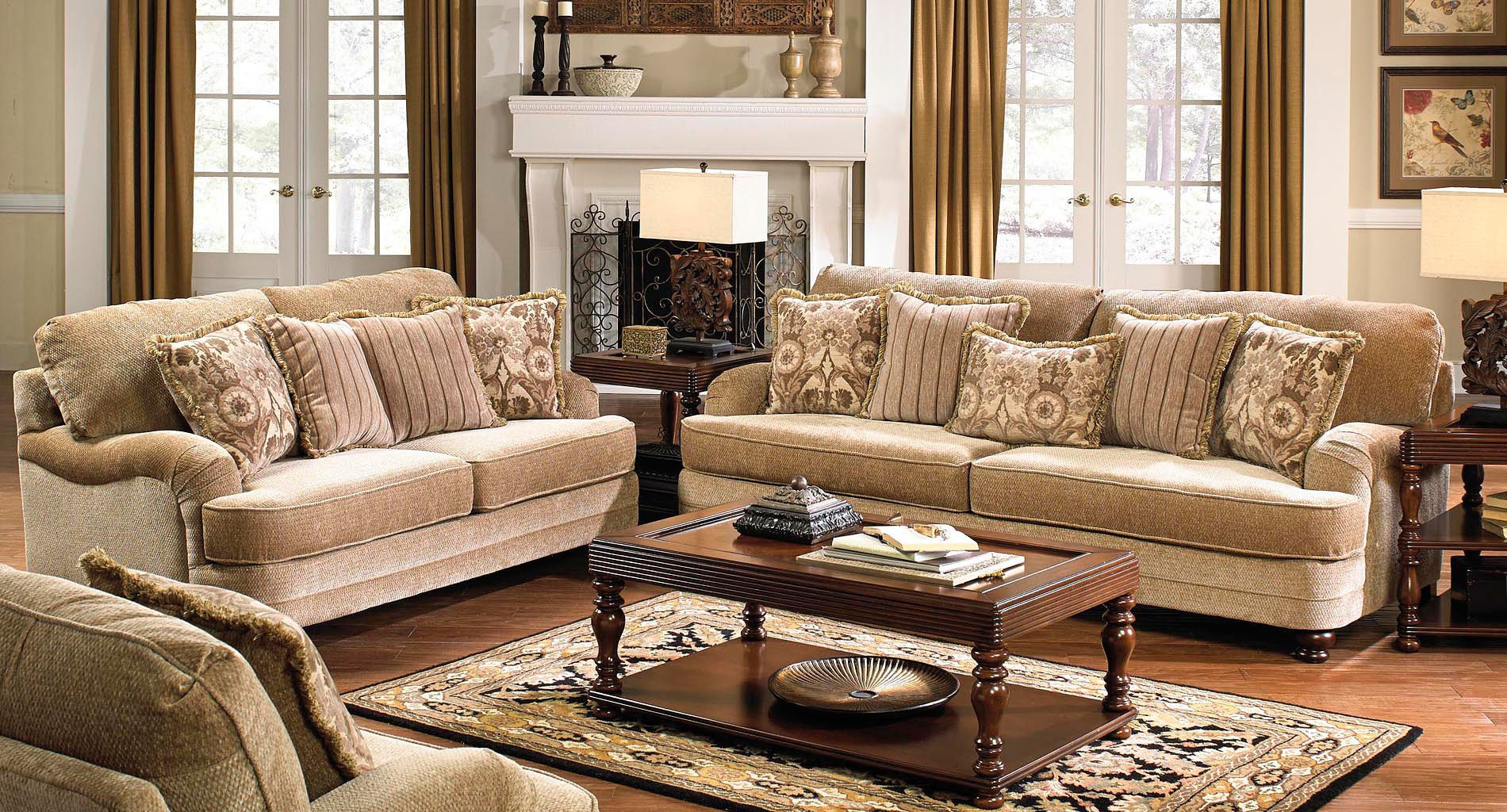 Brennan Living Room Set (Camel) Jackson Furniture | Furniture Cart Pertaining To Brennan Sofa Chairs (View 9 of 25)