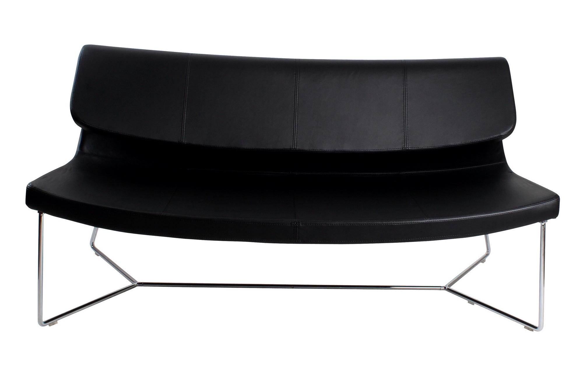 Brennan Sofa Black Leatherette Regarding Brennan Sofa Chairs (View 16 of 25)