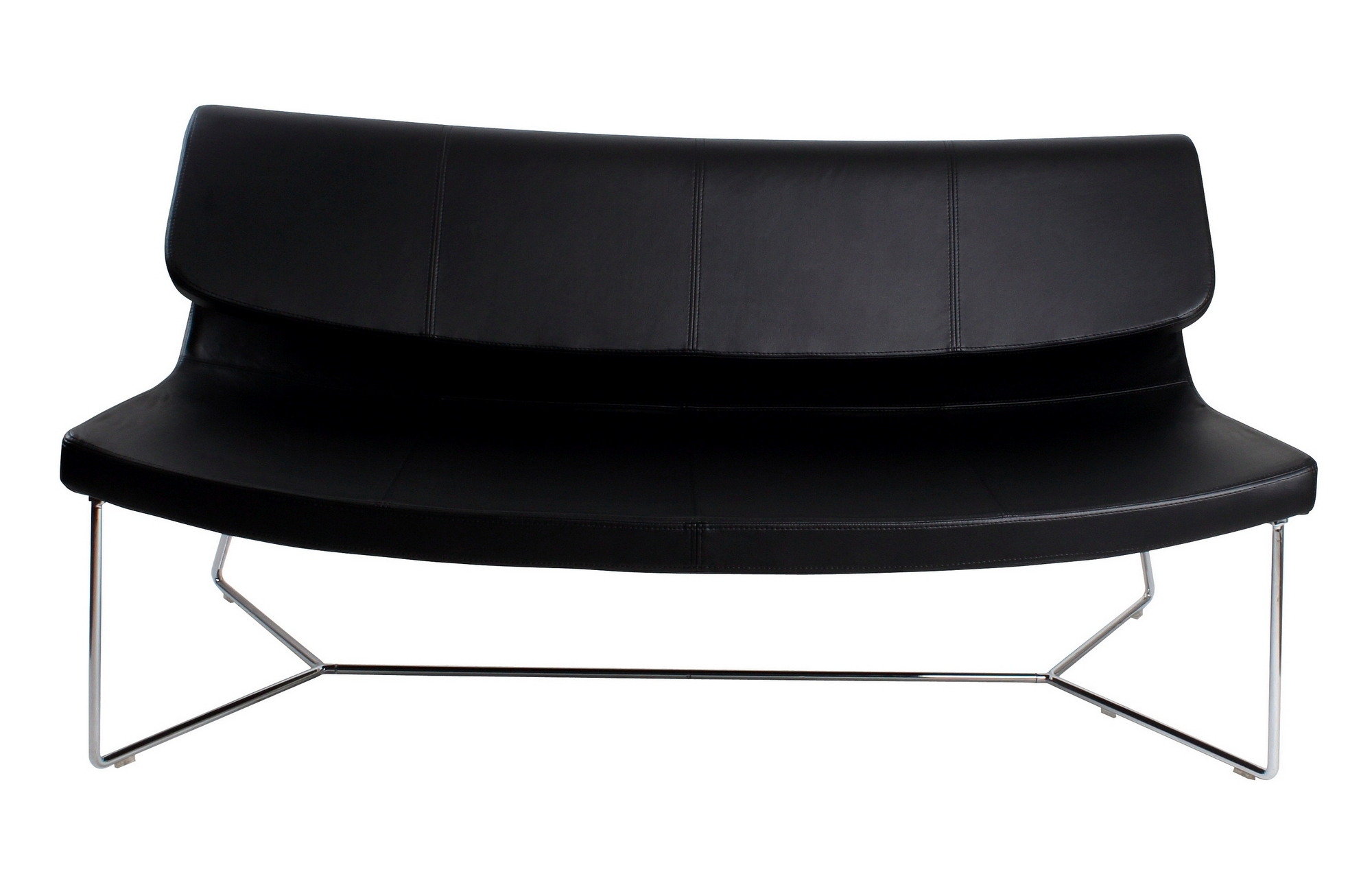 Brennan Sofa Black Leatherette Regarding Brennan Sofa Chairs (Image 8 of 25)