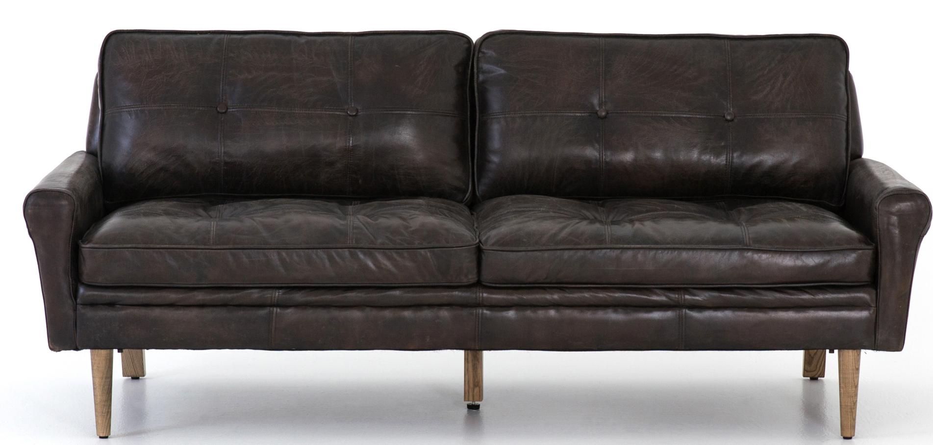 Brennan Sofa, Deep Brown For Brennan Sofa Chairs (Image 9 of 25)