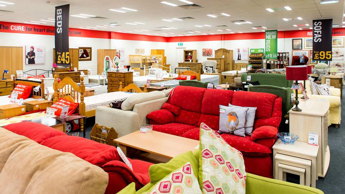 British Heart Foundation Furniture And Electrical Stores Intended For Mansfield Cocoa Leather Sofa Chairs (Image 2 of 25)