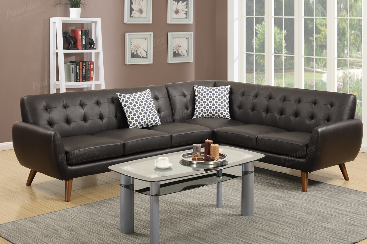 Brown Leather Sectional Sofa – Steal A Sofa Furniture Outlet Los In Abigail Ii Sofa Chairs (View 21 of 25)