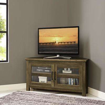 Brown – Wood – Corner Unit – Tv Stands – Living Room Furniture – The For 2017 Abbott Driftwood 60 Inch Tv Stands (View 21 of 25)