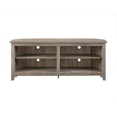 Brown – Wood – Corner Unit – Tv Stands – Living Room Furniture – The With Favorite Abbott Driftwood 60 Inch Tv Stands (Image 4 of 25)