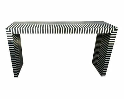 Butler Vivienne Black Bone Inlay Console Table – Heritage With Regard To Favorite Black And White Inlay Console Tables (Image 12 of 25)