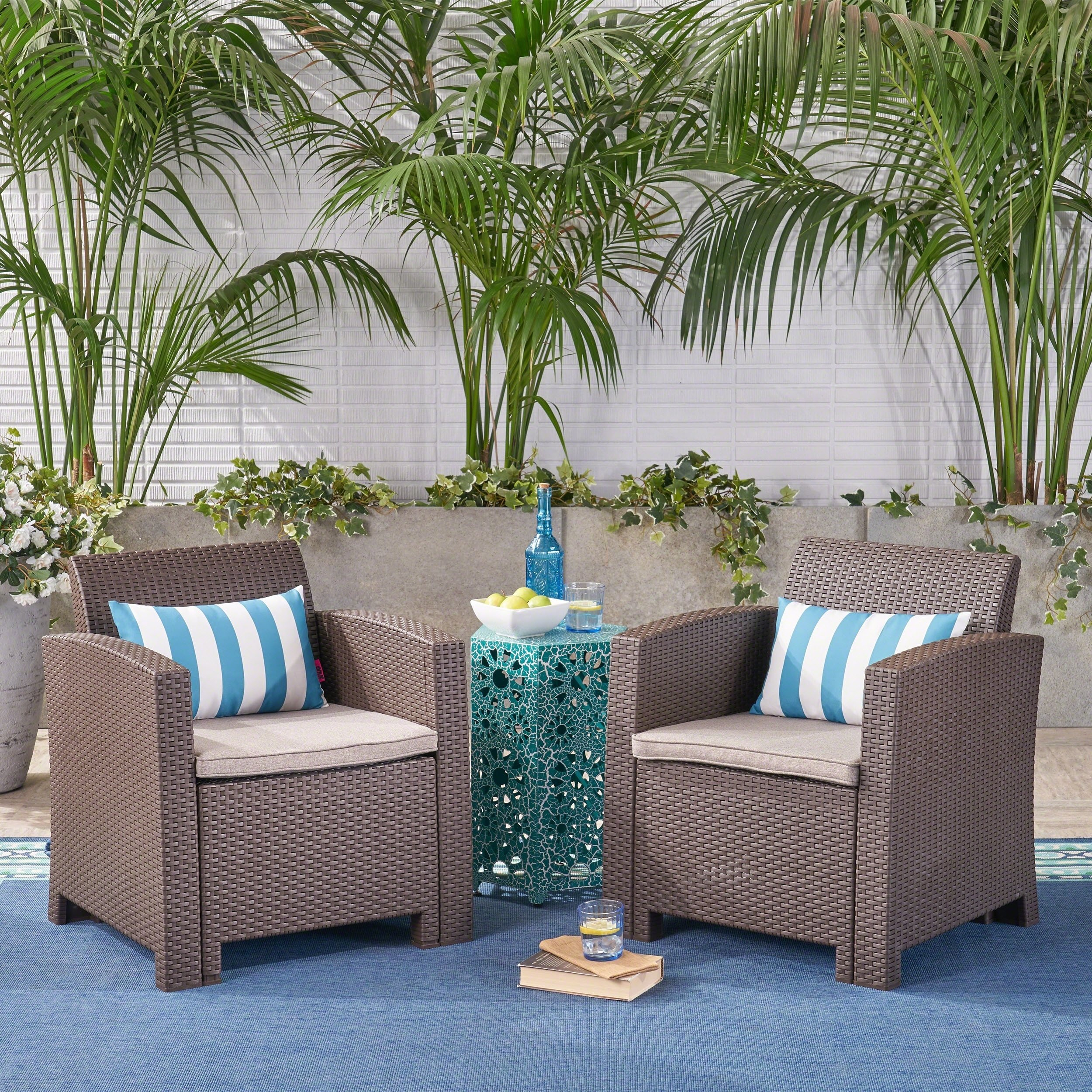 Buy 2 Outdoor Sofas, Chairs & Sectionals Online At Overstock Intended For Alder Grande Ii Swivel Chairs (View 19 of 25)