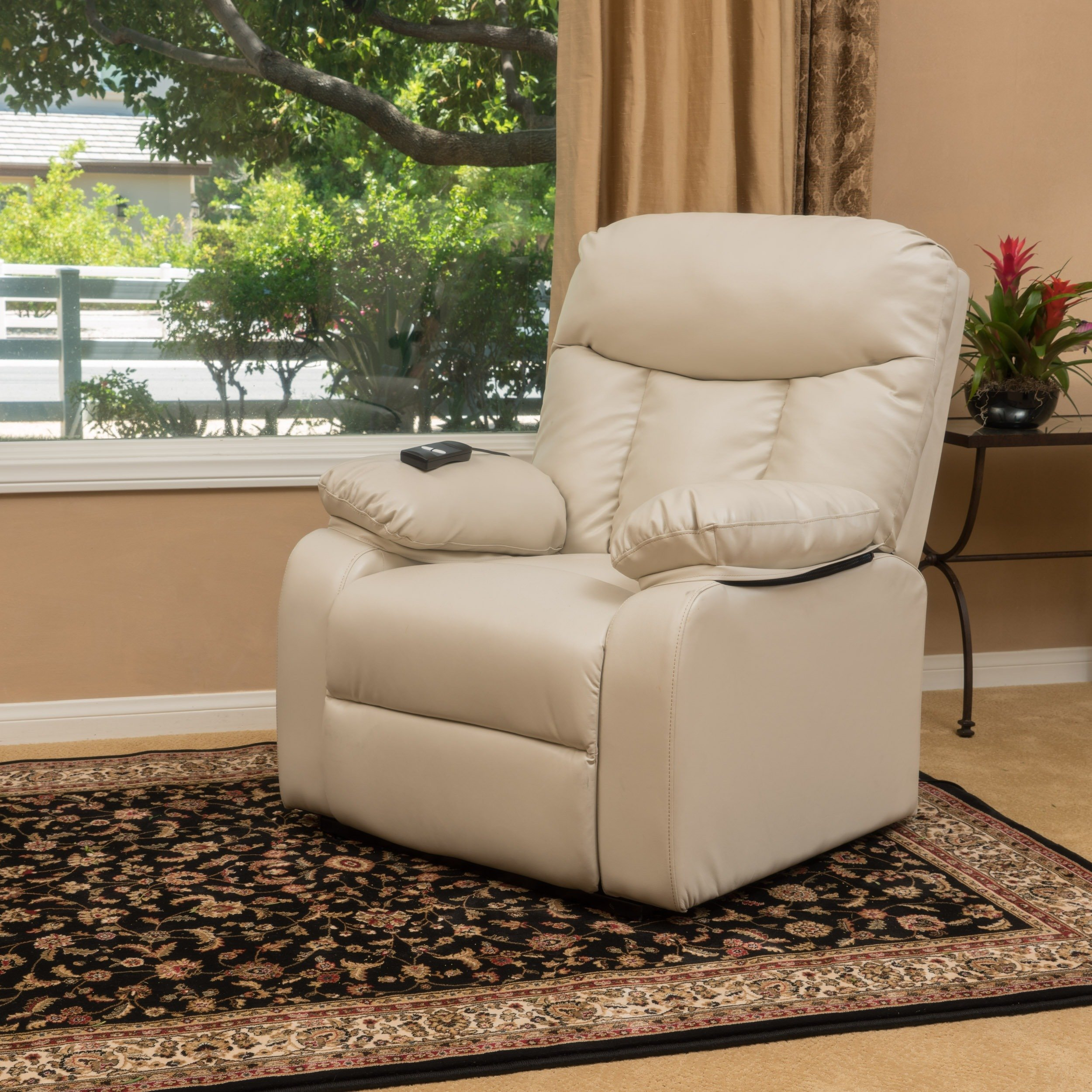 Buy Brown Christopher Knight Home Living Room Chairs Online At In Dale Iii Polyurethane Swivel Glider Recliners (View 25 of 25)