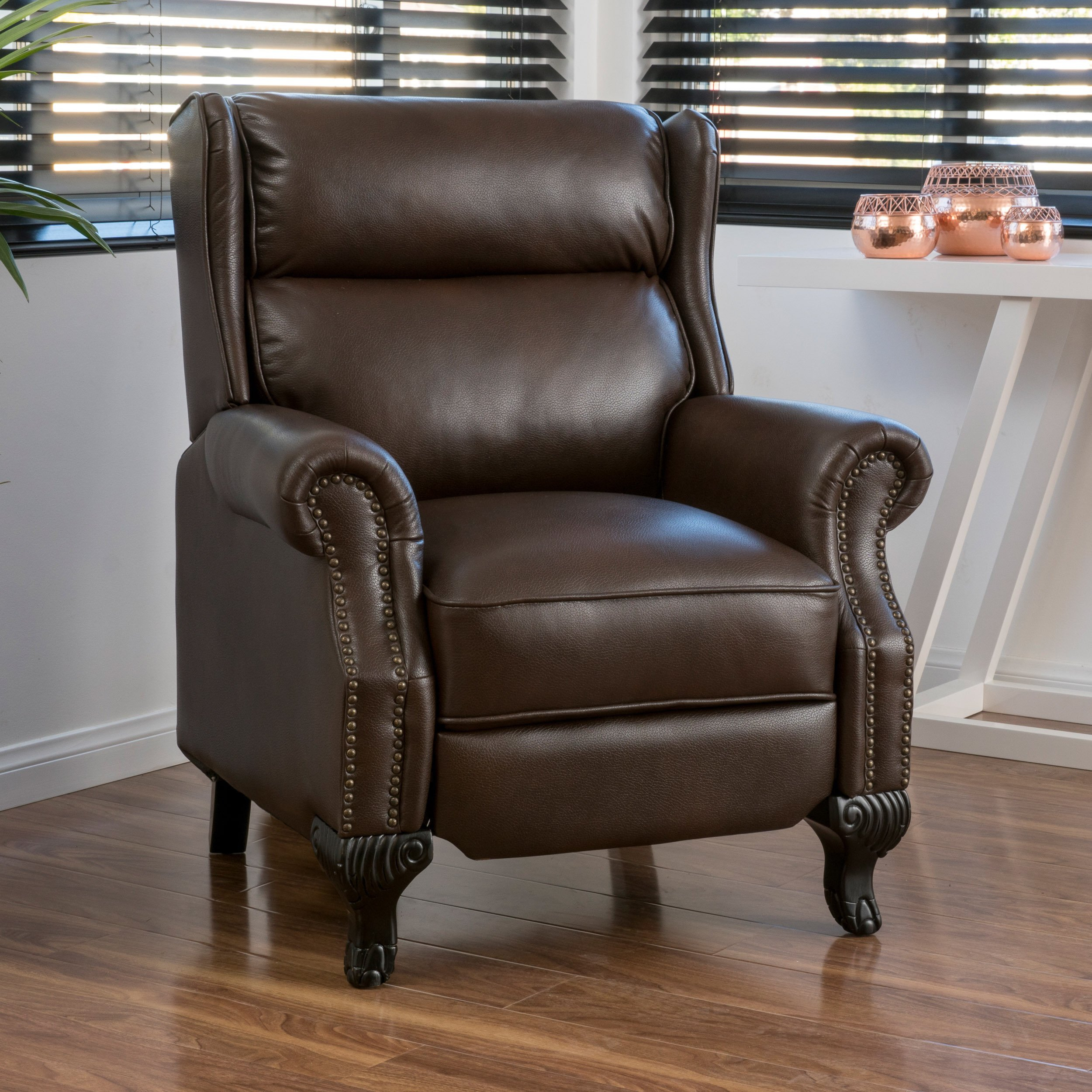 Buy Brown Christopher Knight Home Living Room Chairs Online At Intended For Dale Iii Polyurethane Swivel Glider Recliners (Image 4 of 25)