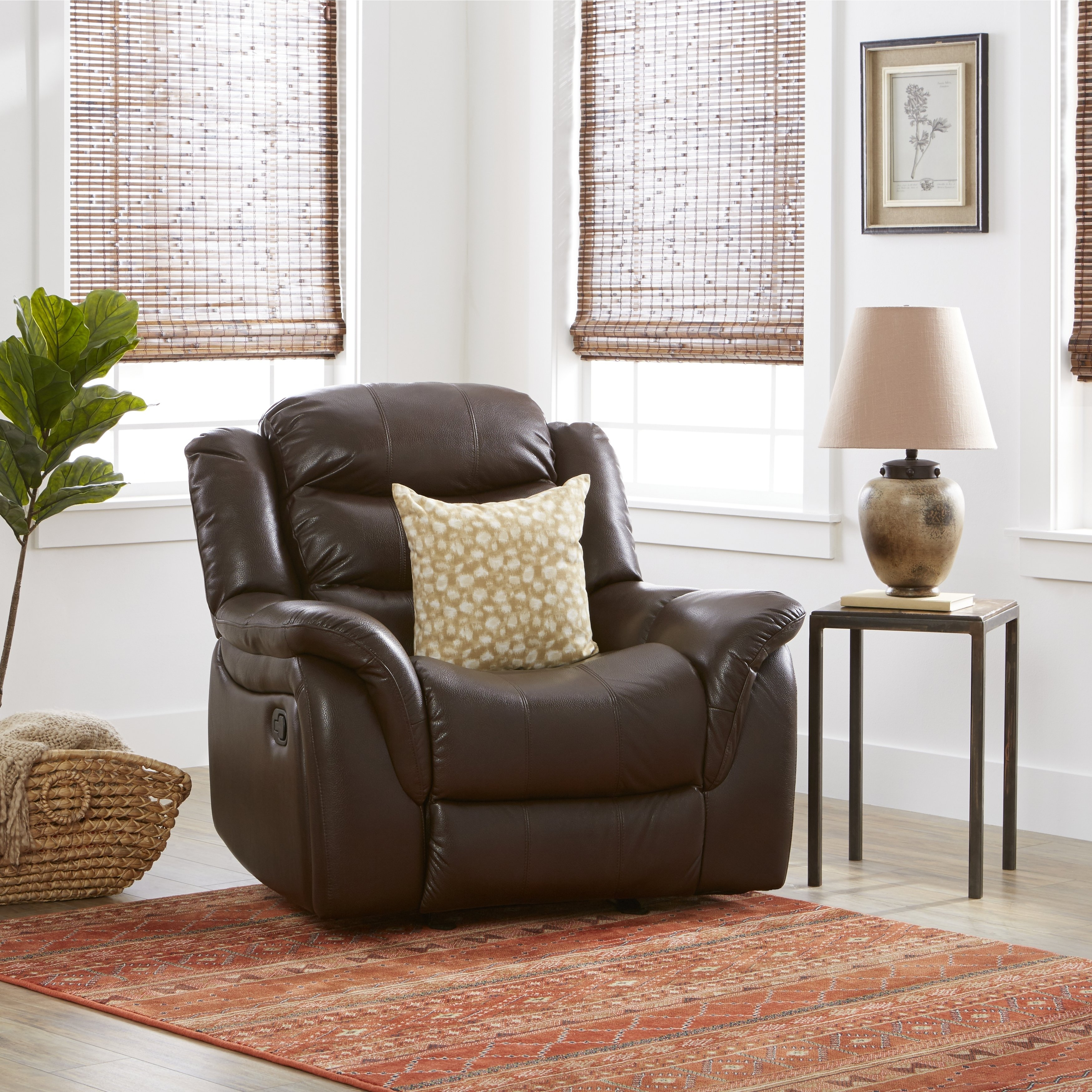 Buy Brown Christopher Knight Home Living Room Chairs Online At Regarding Dale Iii Polyurethane Swivel Glider Recliners (View 17 of 25)