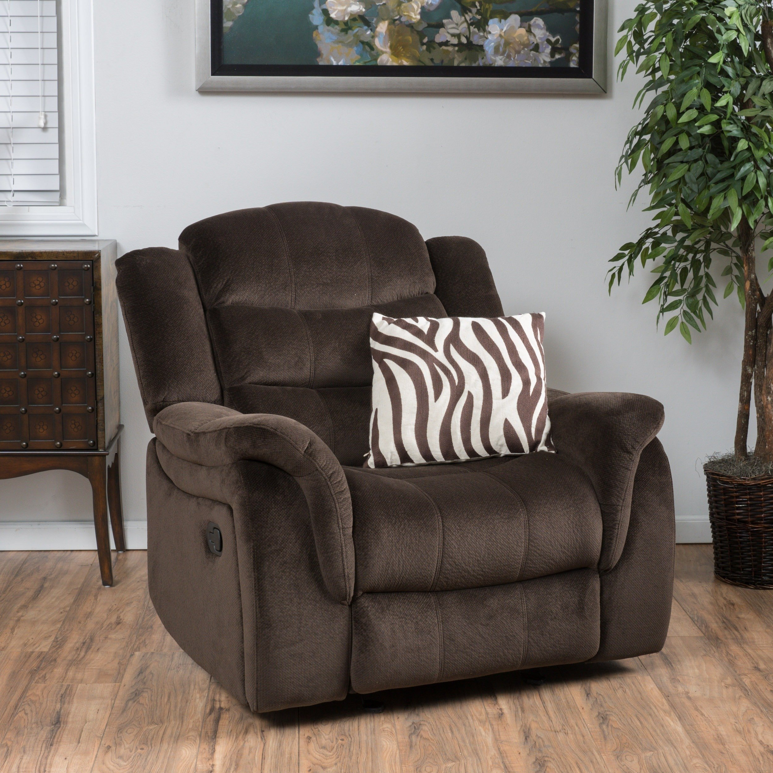 Buy Brown Christopher Knight Home Living Room Chairs Online At Throughout Dale Iii Polyurethane Swivel Glider Recliners (Image 6 of 25)