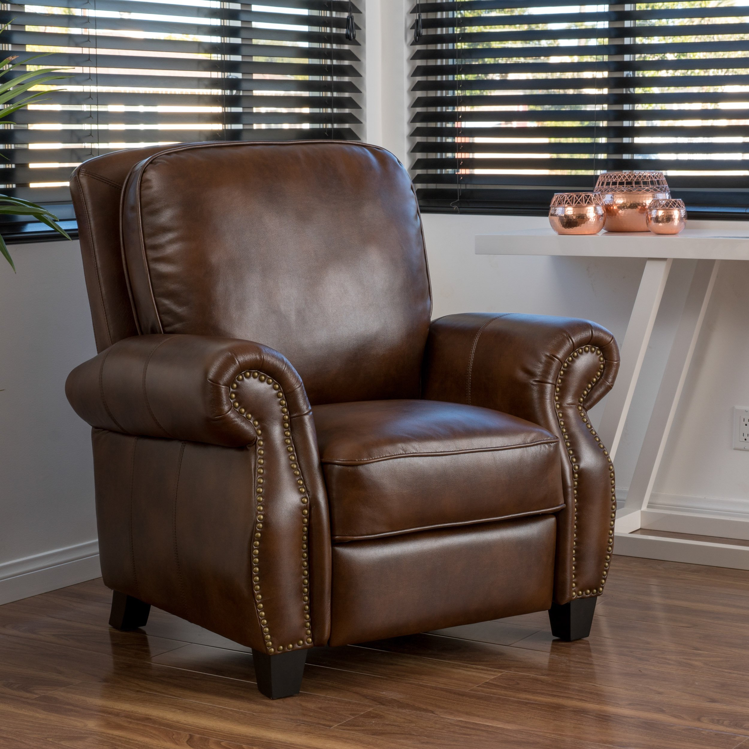 Buy Brown Christopher Knight Home Living Room Chairs Online At Within Dale Iii Polyurethane Swivel Glider Recliners (Image 7 of 25)