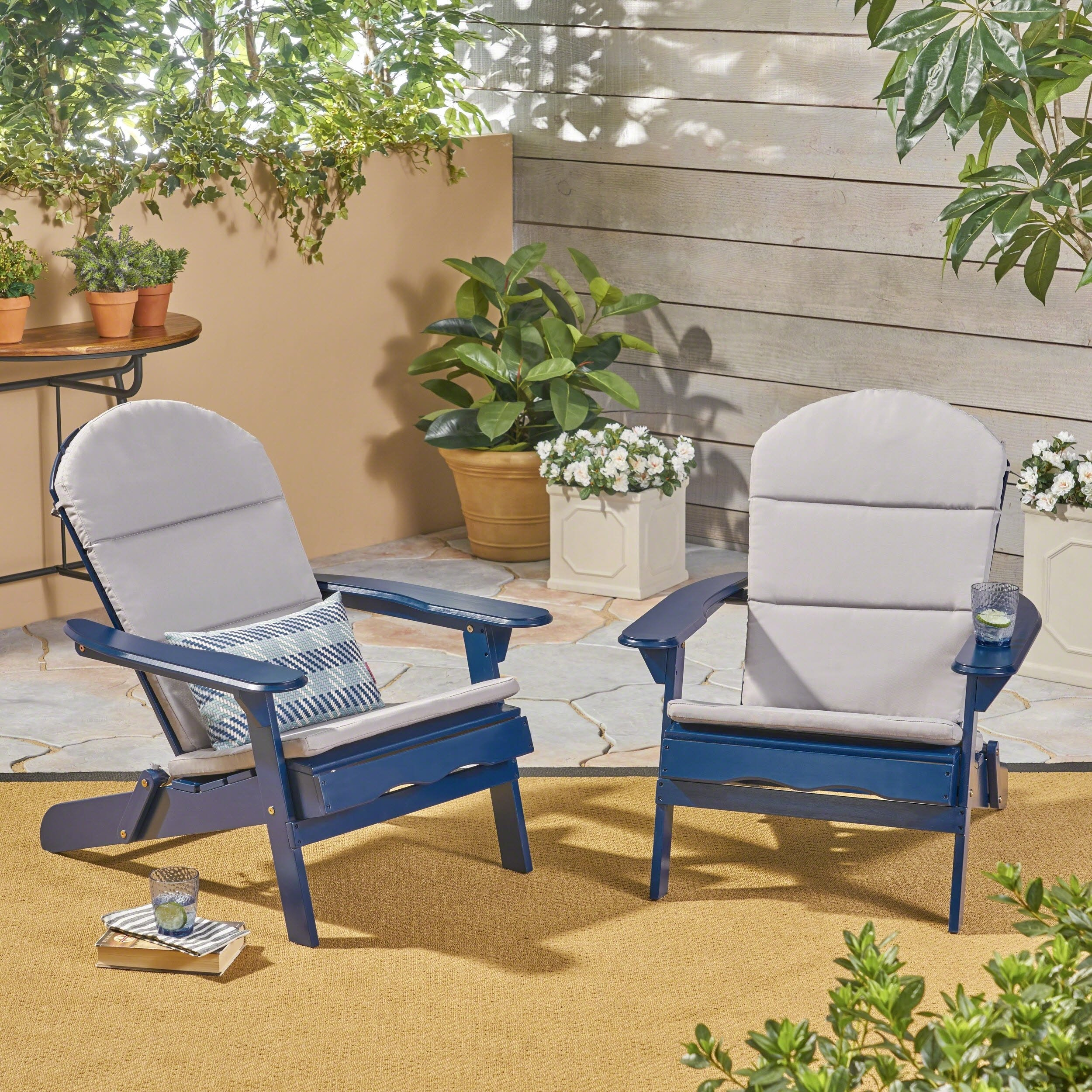 Buy Grey, 2 Outdoor Sofas, Chairs & Sectionals Online At Overstock Throughout Alder Grande Ii Swivel Chairs (View 23 of 25)