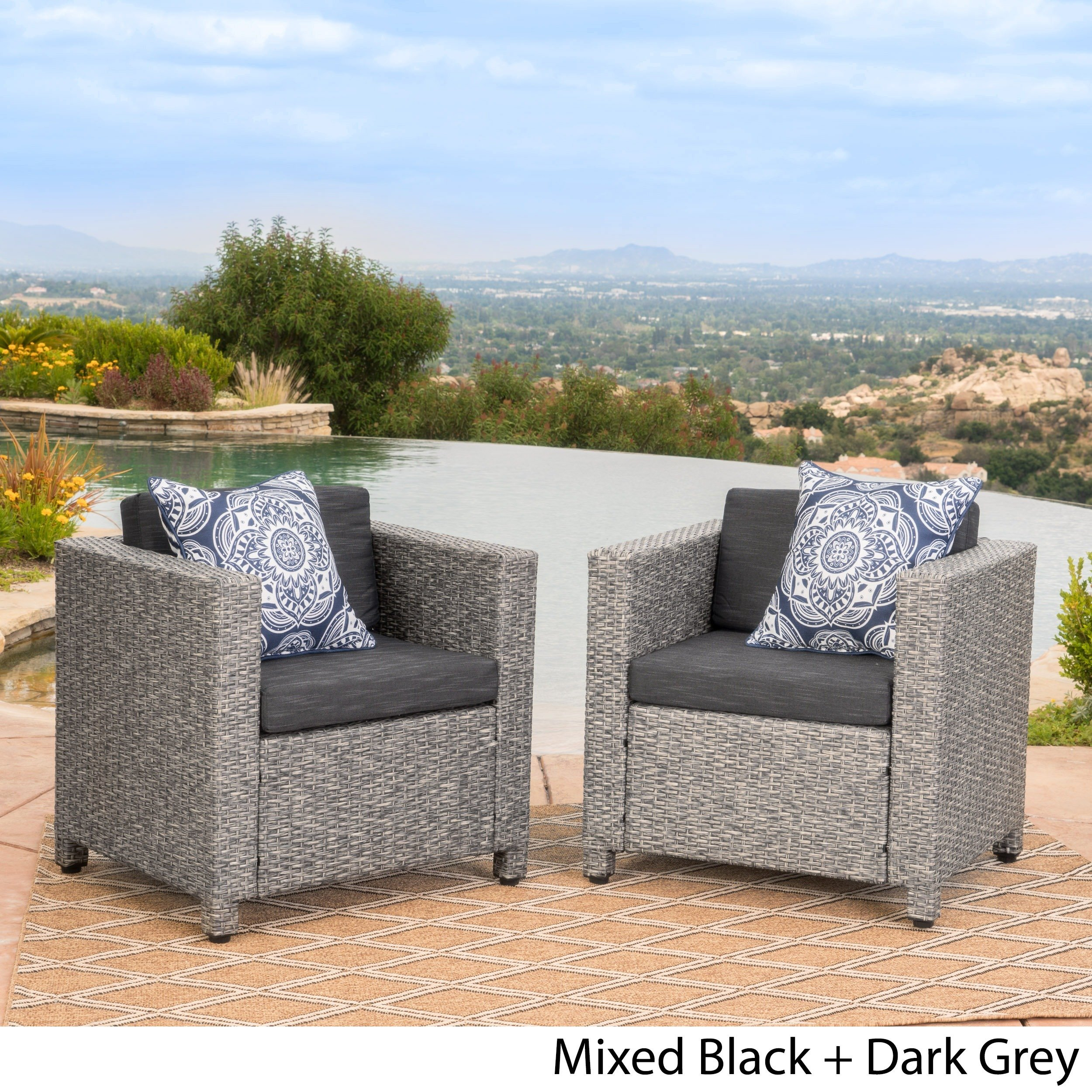 Buy Grey, 2 Outdoor Sofas, Chairs & Sectionals Online At Overstock Within Alder Grande Ii Swivel Chairs (View 15 of 25)