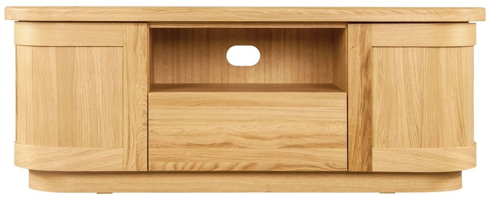 Buy Sorrento Tv Stand, Clemence Richard Sorento Oak Tv Cabinet With Most Recent Oak Tv Cabinet With Doors (Image 7 of 25)