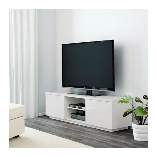 Byås Tv Bench, High Gloss White 160X42X45 Cm High Gloss White $199 Regarding Most Current Tv Bench White Gloss (Image 9 of 25)