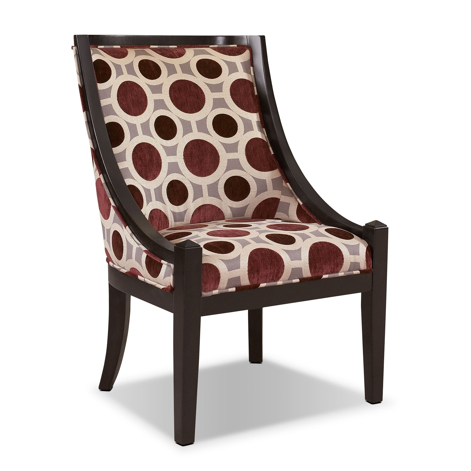 Callie Accent Chair – Mulberry | American Signature Furniture Regarding Callie Sofa Chairs (Image 3 of 25)