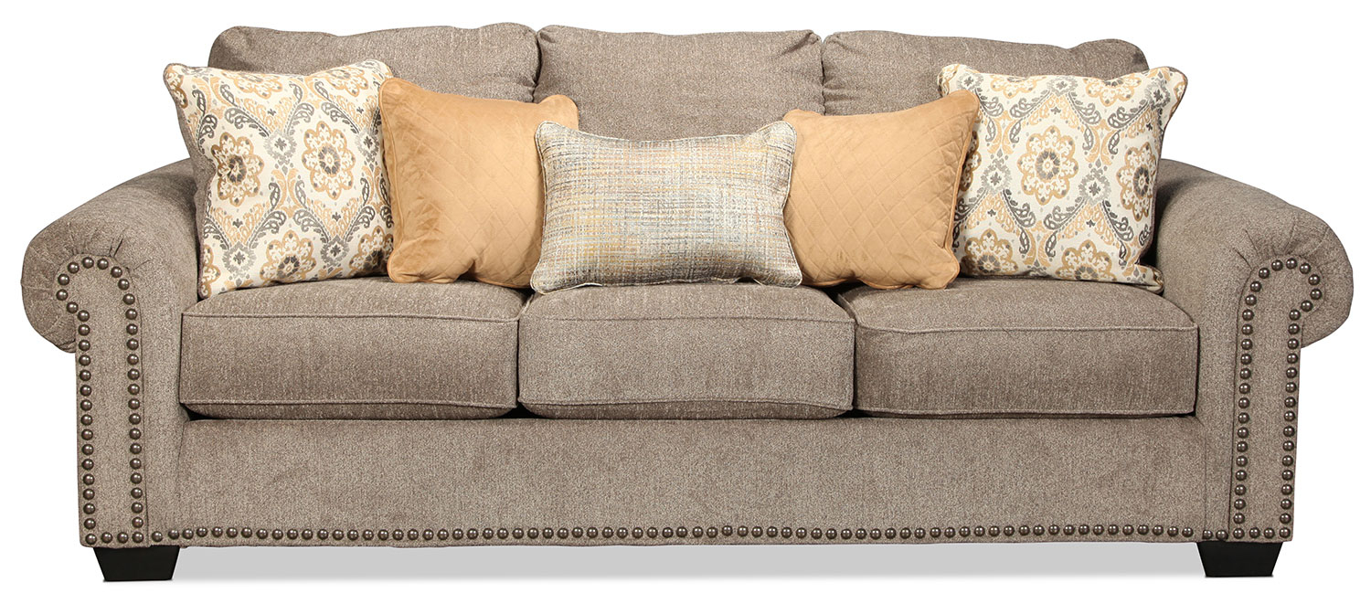 Callie Sofa – Grey | Intended For Callie Sofa Chairs (Image 6 of 25)