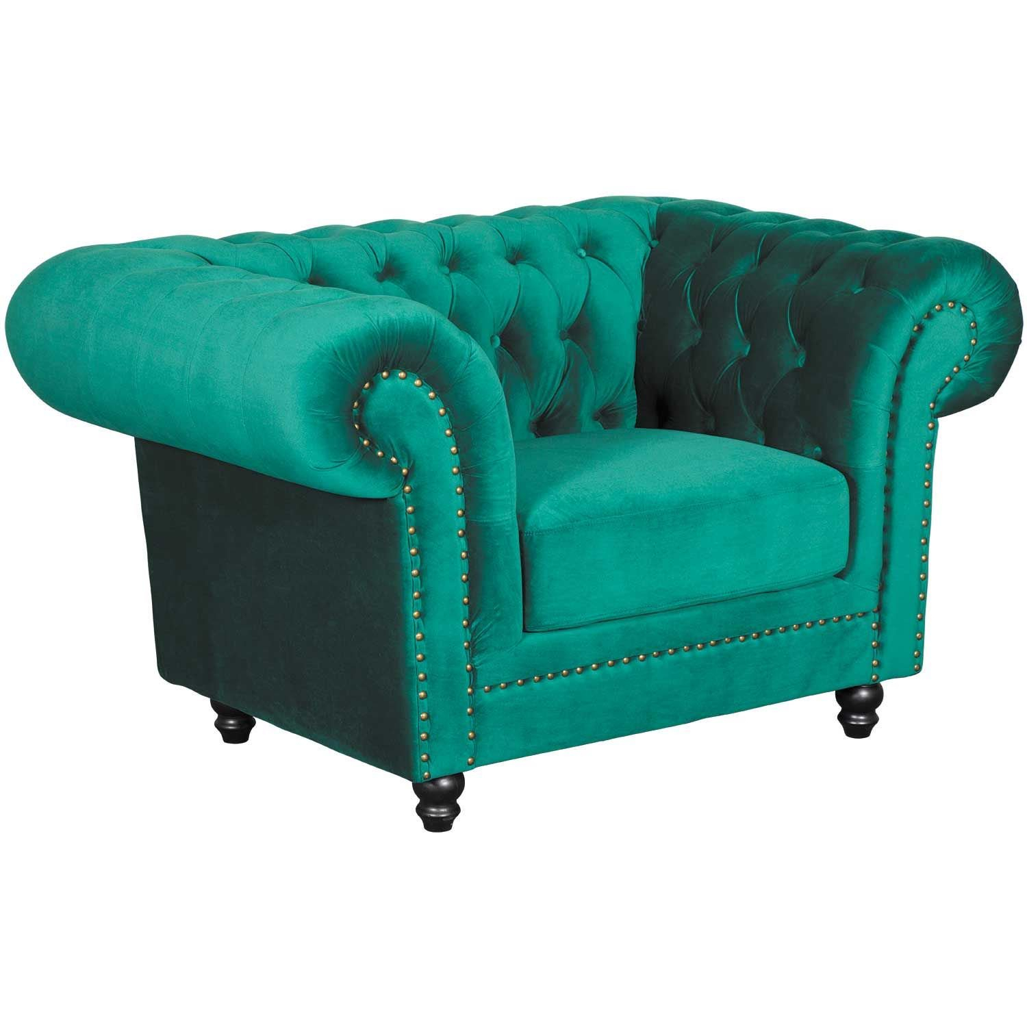 Callie Tufted Emerald Chair | My225 S1/cc 42 | Cambridge Home | Afw Pertaining To Callie Sofa Chairs (Image 16 of 25)