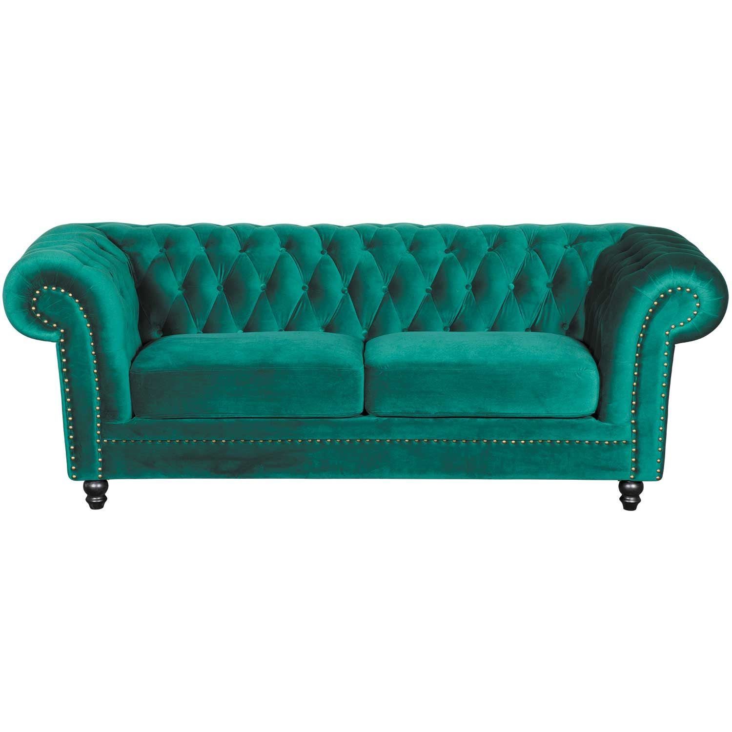 Callie Tufted Emerald Sofa | My225 S3/cc 42 | Cambridge Home | Afw Intended For Callie Sofa Chairs (View 10 of 25)