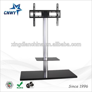 Cantilever Glass Tv Stand With Bracket For 23 To 50 Inches Plasma For Favorite Cantilever Glass Tv Stand (View 7 of 25)