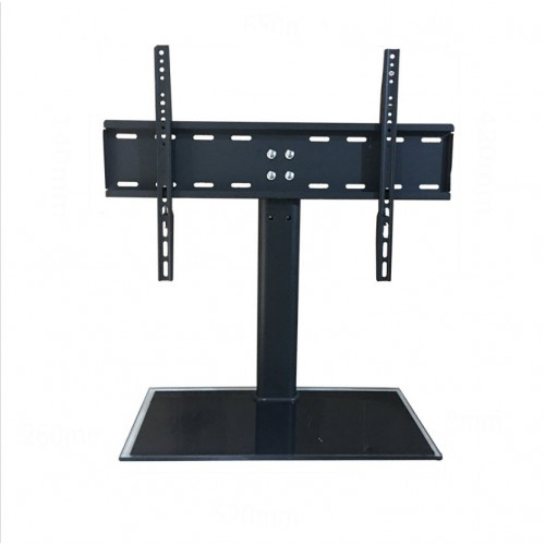 Cantilever Glass Tv Stand With Bracket For 32  55 Inch Lcd Led Plasma Throughout Fashionable Cantilever Glass Tv Stand (Image 5 of 25)