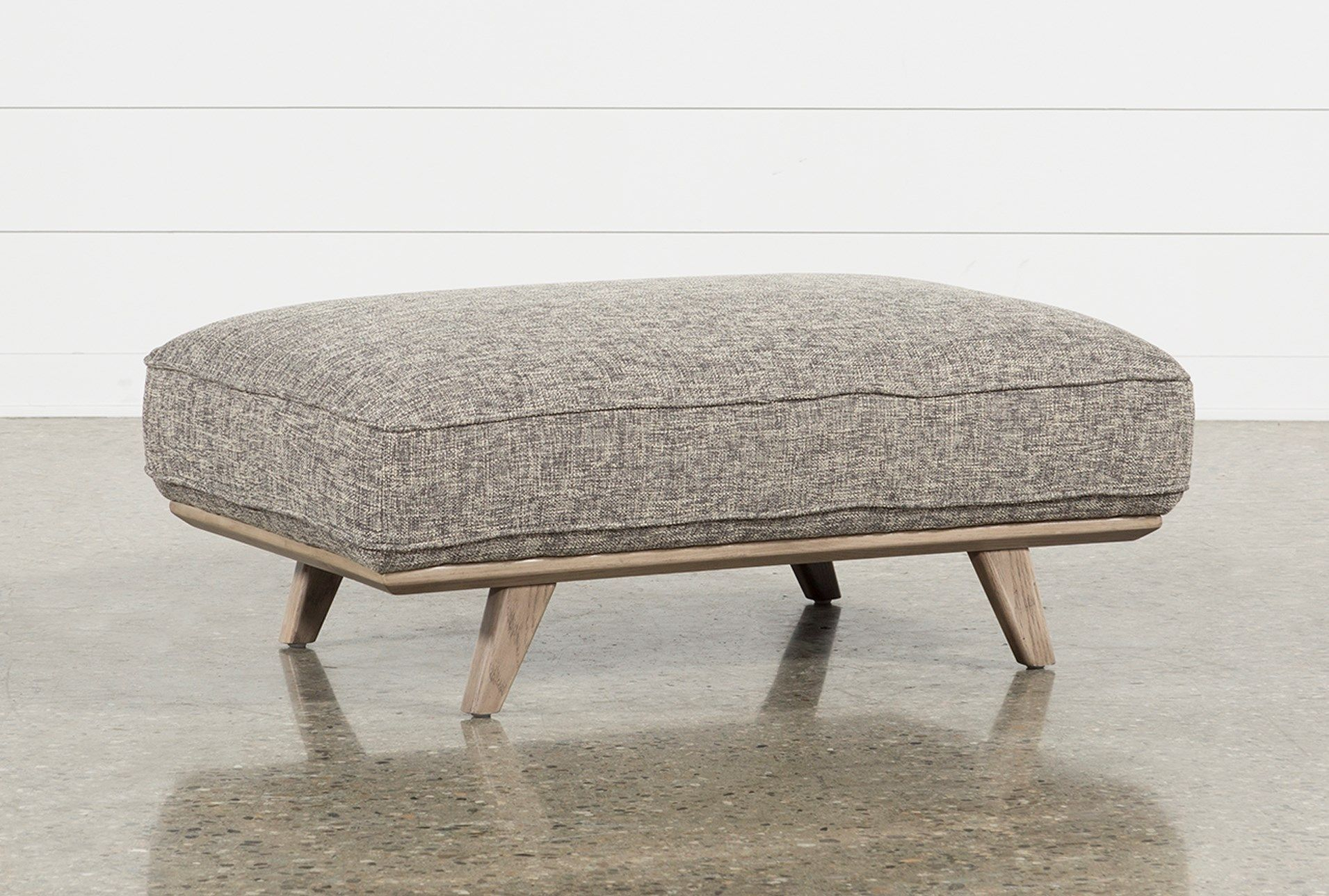 Caressa Grey Cocktail Ottoman In 2018 | Home | Pinterest | Cocktail For Caressa Leather Dove Grey Sofa Chairs (Image 4 of 25)