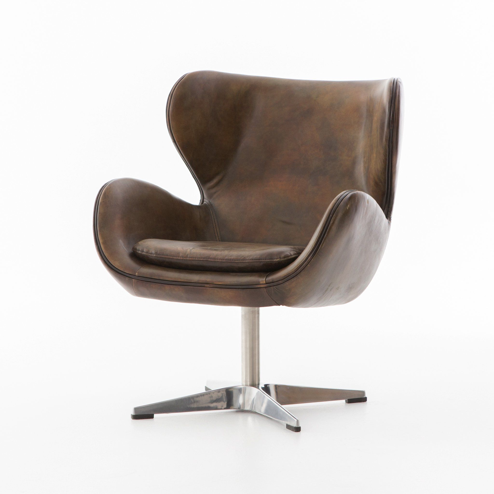 Featured Image of Espresso Leather Swivel Chairs