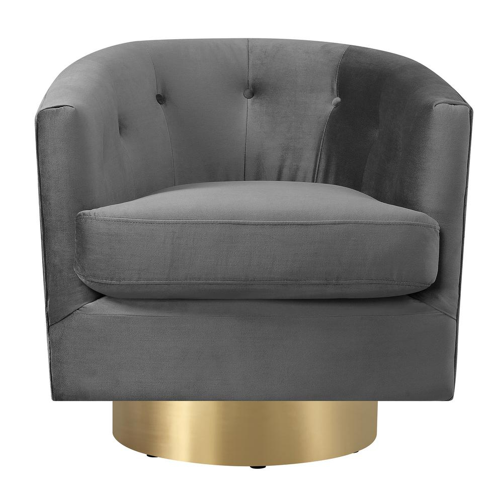 Carolina Slate Button Tufted Swivel Accent Chair Utr288101Swg – The Regarding Loft Black Swivel Accent Chairs (View 5 of 25)