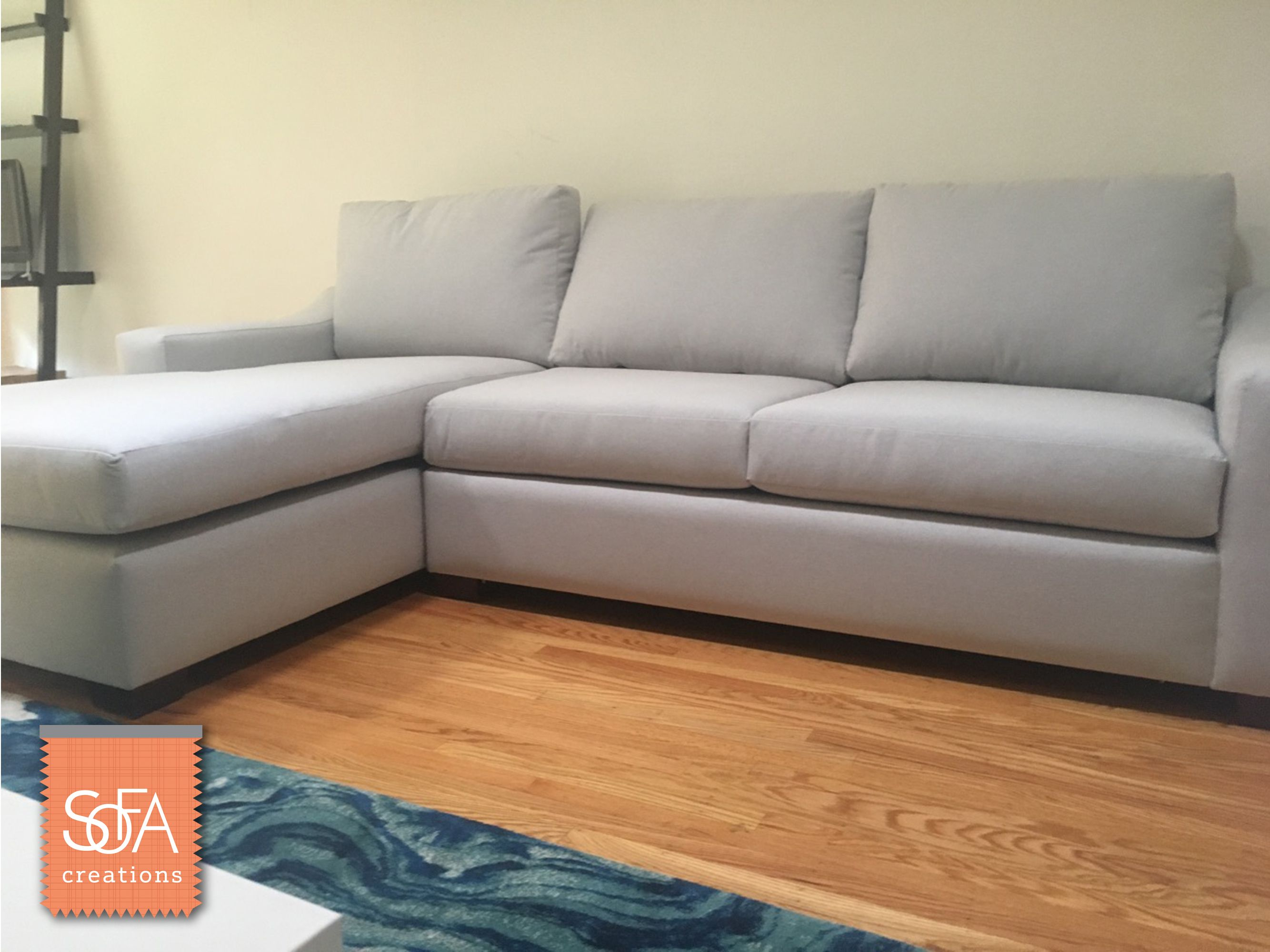 Carson Sectional In Devon Platinum The Carson Has A Stylish, Wide Pertaining To Devon Ii Arm Sofa Chairs (View 6 of 25)