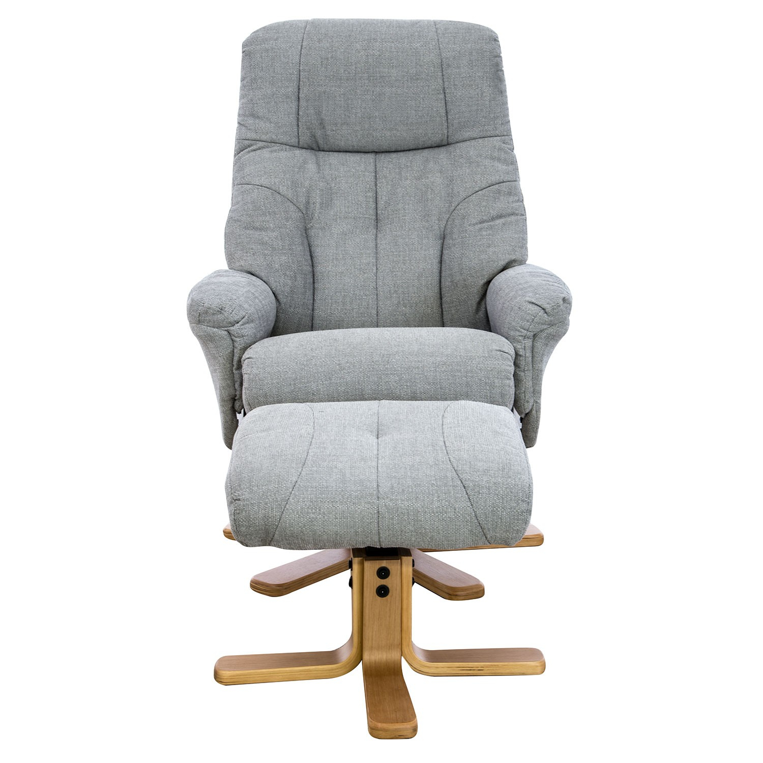 Casa Trento Swivel Recliner And Footstool | Leekes With Regard To Decker Ii Fabric Swivel Rocker Recliners (Image 4 of 25)